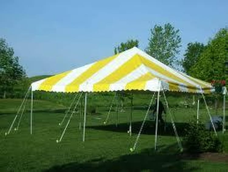 20 x 30 Pole Tent Rental