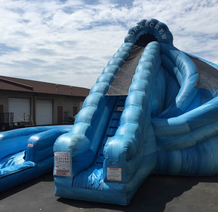 22ft Waterslide With Pool Rip Curl Themed Rental