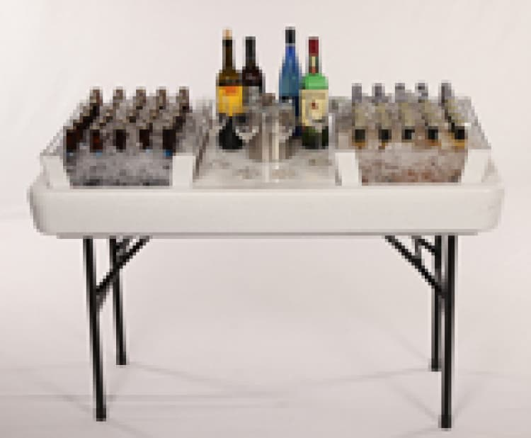 4 ft. Chill Table with Bar Setup Rental