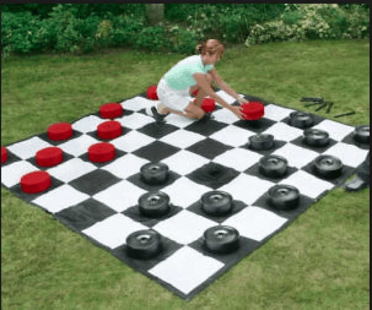Giant Checker Game Rental