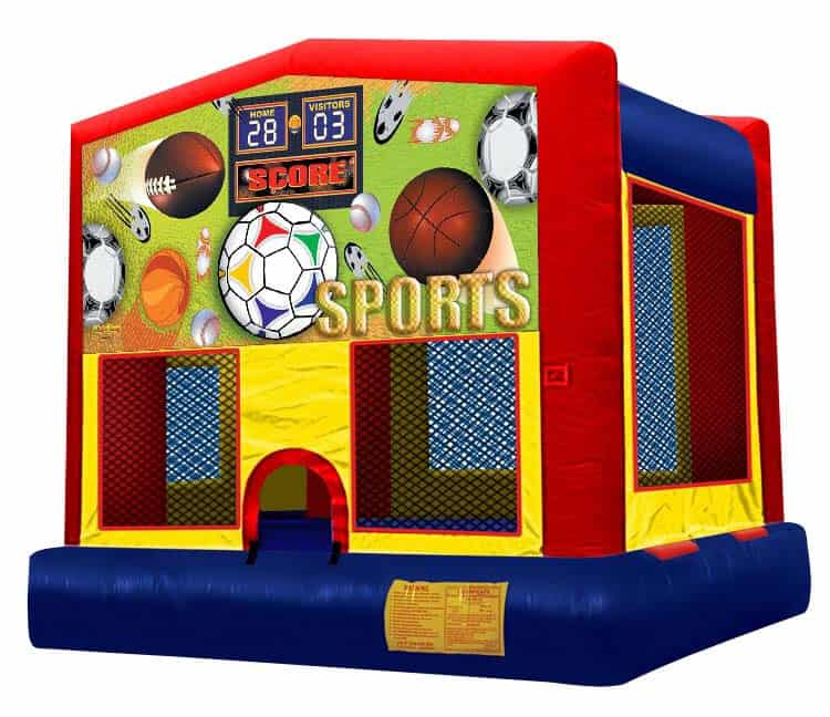 Sports Themed Moonbounce Rental